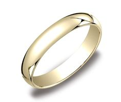 Men's 10k Yellow Gold 4mm Traditional Wedding Band Ring, Size 9 $129.00