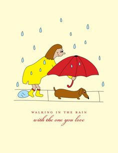 Omg!! This is totally a dachshund thing! They hate the rain and I am guilty of doing this in desperate measures to make them use the bathroom!