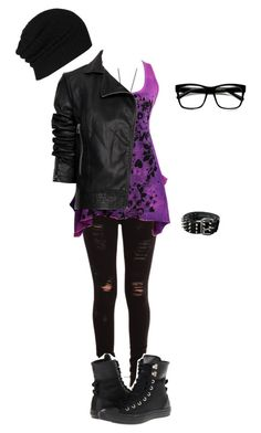 """""""Untitled #698"""" by death-to-your-heart ❤ liked on Polyvore featuring Converse, Retrò, AllSaints, Daydream Nation and Bullet"""