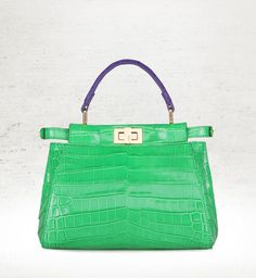 f4570c9407 A limited-edition croco Peekaboo that celebrates the reopening of Fendi s  Leathergoods corner at Harrods