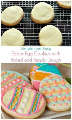 Simple and Easy Easter Egg Cookies with Rolled and Ready Dough. This quick and simple recipe is sure to impress at your Easter celebrations.