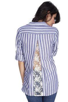 Janice Stripe- Indigo – RusticThread Boutique