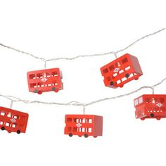 These cute wooden London Bus String lights are a great way to bring some British style into your home during the festive season.