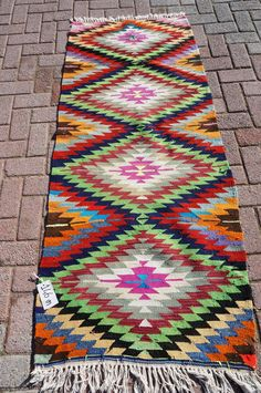 ANATOLIAN Turkish Vintage Kilim Rug Runner Carpet by TurkishKilim