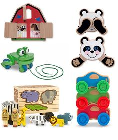 Melissa and Doig classic wooden toys available at Kid to Kid! These are great toys and won't last long!