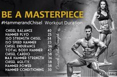 The Master's Hammer & Chisel Duration sheet so you know what time to wake up each morning! Get free tips, recipes, and join online Challenges at www.fb.com/youcandoitreset. #hammerandchisel
