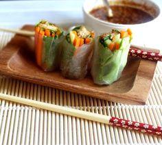 Rice and Coconut: Tempeh teriyaki summer rolls