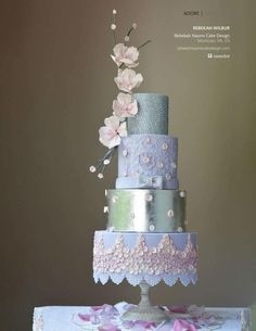 Abed Mahfouz inspired gown for Cake Central  by Rebekah Naomi Cake Design