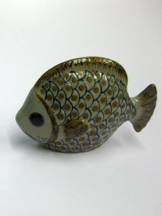 Ceramic handpainted Fish figurine
