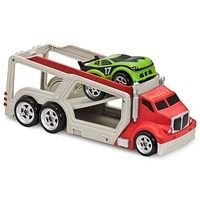 Kid-Galaxy Big Rig Car Carrier Red/Car Pull Back Soft