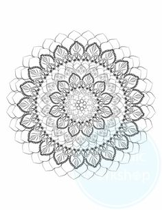 Mandala 1 FREE Coloring Page For Adults Stress Relief