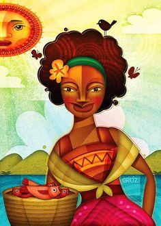 """Ilustración de """"La Negrita"""" de Cafe Tacuba, exposición; Seguimos siendo."""