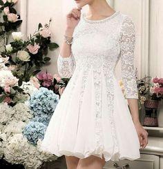 Lindo vestido para casamento no cartório!