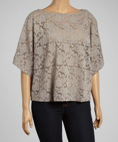 Another great find on #zulily! Moon Rock Lace Cape-Sleeve Top - Plus by Dantelle #zulilyfinds