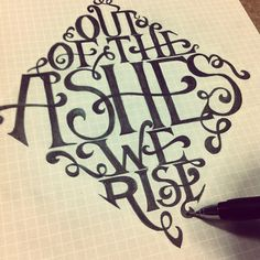 Out Of The Ashes We Rise - pencil by theloftphoto, via Flickr