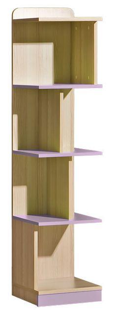 LORENTTO, regál L15, jasan/fialová Systém LOIRENTO se skládá z 16 prvků v barevném provedení jasan combria v kombinaci s fialovou nebo limetkou. Tento široký výběr vám zaručí si sestavit nábytek podle svých představ. Celá řada … Green Ash, Montage, Modern, Police, Kids Room, Bookcase, Shelves, Storage, Design