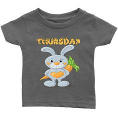 Thursday T-shirt (Infants) Infants, Thursday, Babies, Best Deals, Mens Tops, Kids, T Shirt, Clothes, Fashion