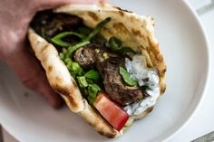 Pork Souvlaki: Probably my favorite sandwich of all time; I need to try this recipe from Joy of Cooking.