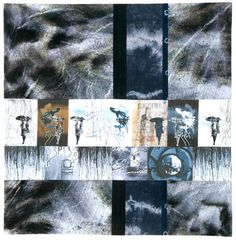 Sudden Storm, Linda Colsh, contemporary art quilting, figurative art quilts, textile arts, http://www.lindacolsh.com/