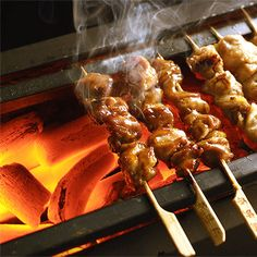 chicken pieces grilled on a skewer) Japanese Restaurant Menu, Japanese Menu, Izakaya Recipe, Rustic Food Photography, Best Bbq, Recipes From Heaven, Outdoor Cooking, Grilling Recipes, Food Truck