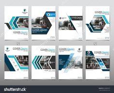 Blue Set Technology Annual Report Brochure Flyer Design Template Vector…