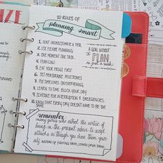 My 10 rules of planning smart! Again, I added a quote from @boho.berry and a…
