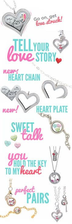 Shop the Origami Owl Valentine's Day Collection available at StoriedCharms.origamiowl.com January 2nd 2014