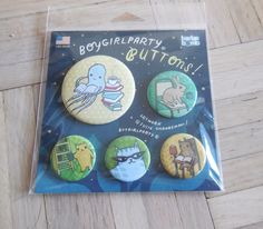 SET OF 5 STUDY BUDDIES ANIMAL READING BUTTON PINS HELPS VET FERAL CATS RESCUE #CatButtonPin