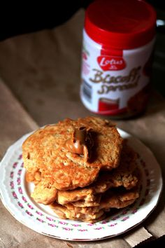 Kitchen Grrrls.: Vegan Speculoos or Biscoff (Cookie Butter) Pancakes