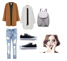 """""""Bo Mi's casual wear"""" by pantsulord on Polyvore featuring Boohoo, MANGO and Converse"""