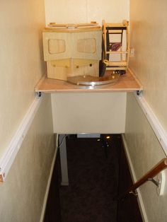 Image result for storage above stairwell