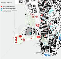 OMA's Arts District Master Plan Unveiled,Cultural Connections Diagram  © OMA