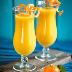 Mango-banana-orange smoothie.Delicious and rich of vitamins mixed drink.Made from fresh fruits!