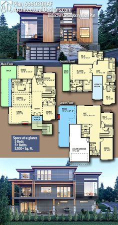 Love this floor plan - needs the garage on the right though vs underneath. #ModernHome