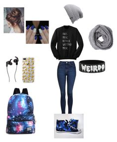 """Everyday Fangirl"" by the-mega-geek ❤ liked on Polyvore featuring Topshop, The North Face and JBL"
