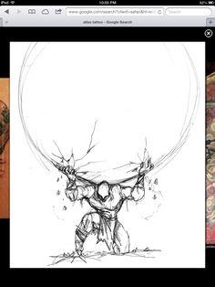 Atlas tattoo sketch