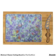 Abstract Cheese Cutting Board