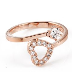 Simple Rose Gold Tail Band Ring