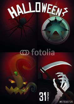 Vector: halloween pack #fotolia #halloween #party #spooky #night #party #candy #family #children #kids #fun #happy