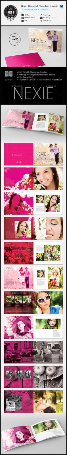 Nexie - Photobook Photoshop Template - Photo Albums Print Templates