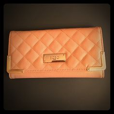 NWT BCBG wallet gold hardware, camel rose leather NWT wallet super cute BCBG Bags Wallets