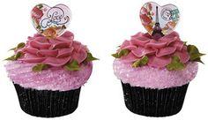 parisian heart rose petal cupcakes