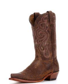 Tony Lama Women's Golden Tan Navajo Boot
