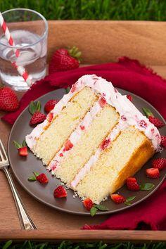 Fresh Strawberry Cake | Cooking Classy