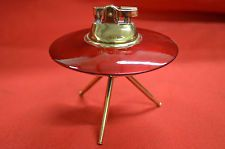 "Vintage Mid-Century Special 4"" Red Table Lighter Comic Eames Era Atomic Sputnik"