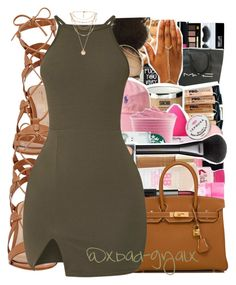 """""""{And even when I starts actin' like a fool Somehow I always can fall back on you}"""" by xbad-gyalx ❤ liked on Polyvore featuring Gianvito Rossi, Hermès and Forever 21"""