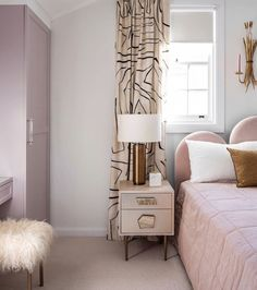 A modern traditional renovation refreshed this Sydney bungalow Traditional Interior, Modern Traditional, Pink Quilts, Apartment Living, York Apartment, House Inside, Girls Bedroom, Bedrooms, How To Make Bed