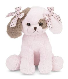BABY'S FAVORITE TOY: Enchanting plush pink puppy dog musical toy for baby rocks side to side and plays Brahms' Lullaby, 13 inches tall EASY TO OPERATE: Features a classic wind up music box with easy to operate large plastic winding key INTERACTIVE: Ultra soft materials, silky satin bows and entertaining music and motion are great for an infant's sensory stimulation A SPECIAL GIFT: Designer look and quality makes this lullaby a unique gift for baby showers, newborn baby girls or mom's traditional Baby Girl Toys, Baby Girl Newborn, Baby Play, Baby Shower Gifts, Baby Gifts, Baby Lullabies, Toddler Birthday Gifts, Musical Toys, Black Baby Dolls
