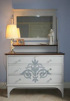 Damask dressing table - Lilyfield Life