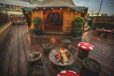 Queen of Hoxton's rooftop Inverness, Stonehenge, Glasgow, Brighton, Weston Super Mare, Pop Up Bar, Christmas Pops, London Restaurants, Beer Garden